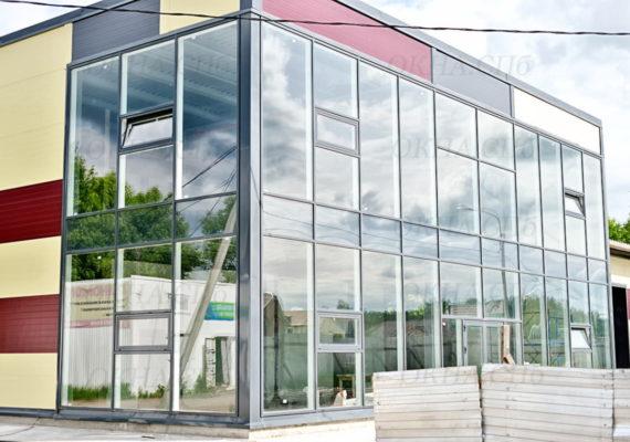 фасад здания из стеклопакетов вид 2