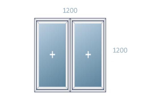 схема окна 1200x1200 вариант 2