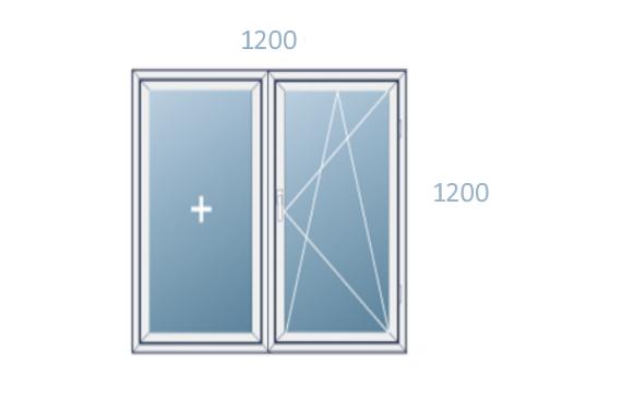 схема окна 1200x1200