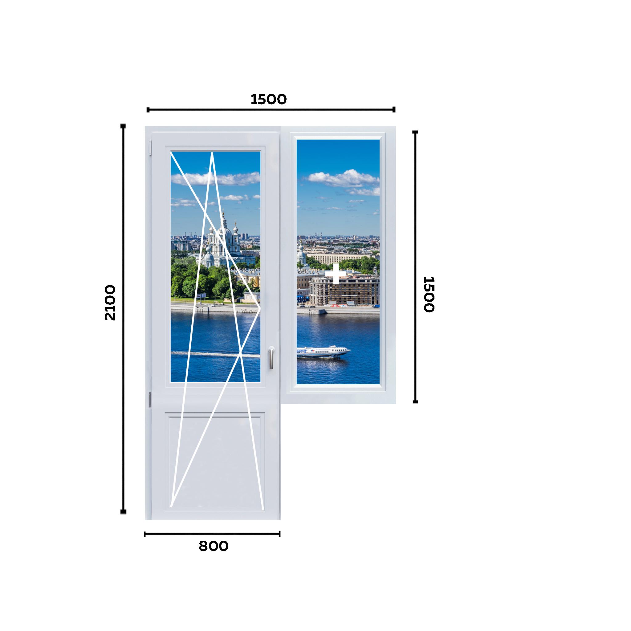 схема окна 1500мм вариант 2