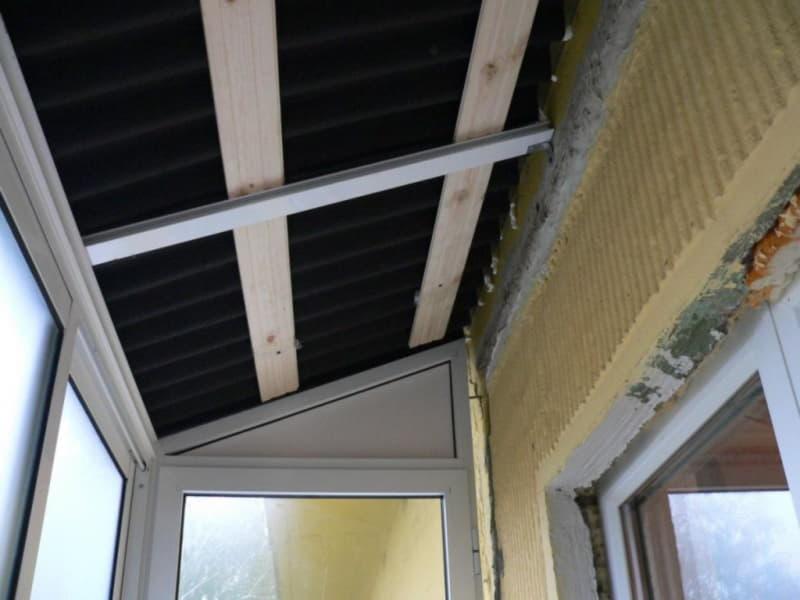 крыши для балкона из профлиста