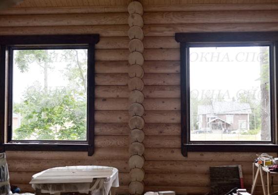 пластиковые окна в частном доме вид изнутри