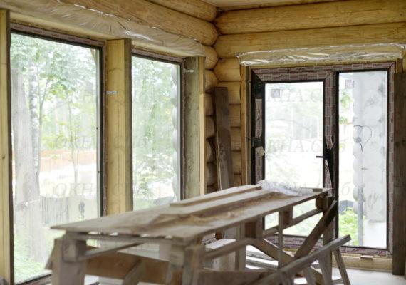 остекление частного дома изнутри
