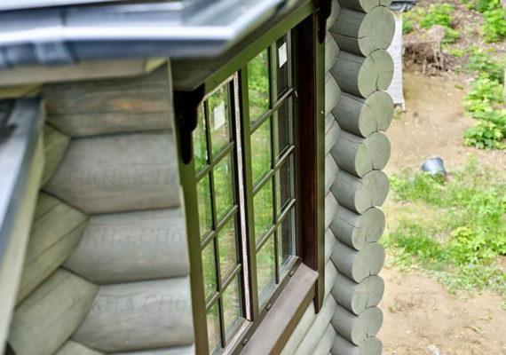 установка стеклопакетов в деревянном дома