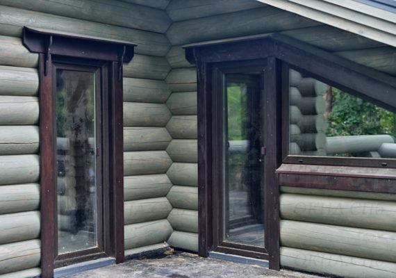 остекление деревянного дома керро