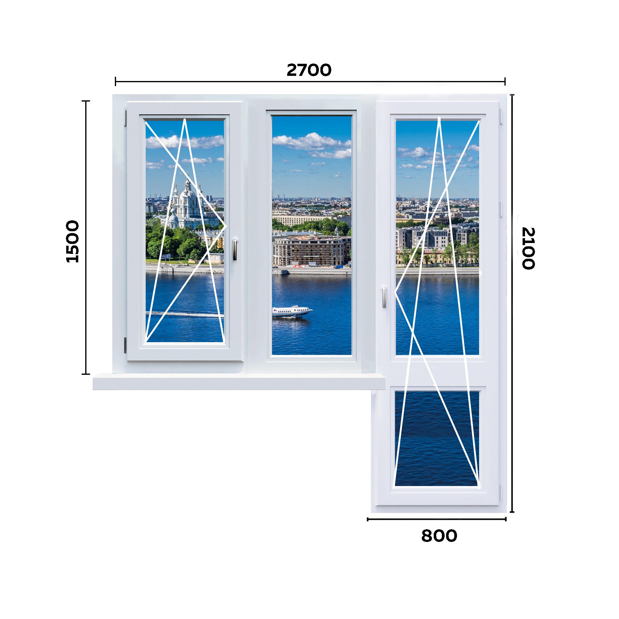 схема окна 2700мм вариант 3