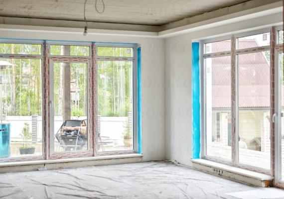 большие окна в загородном доме