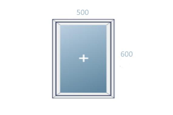 схема окна 500x600 вариант 2