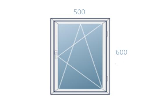 схема окна 500x600