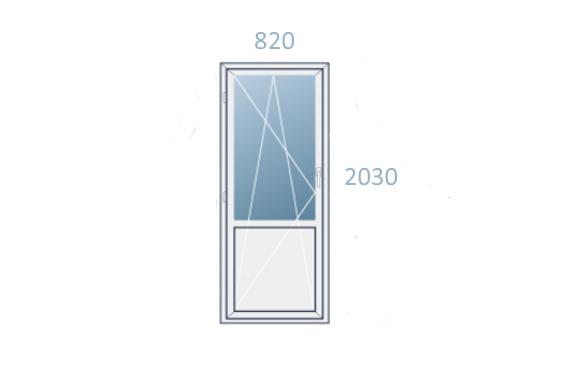 схема двери 820x2030