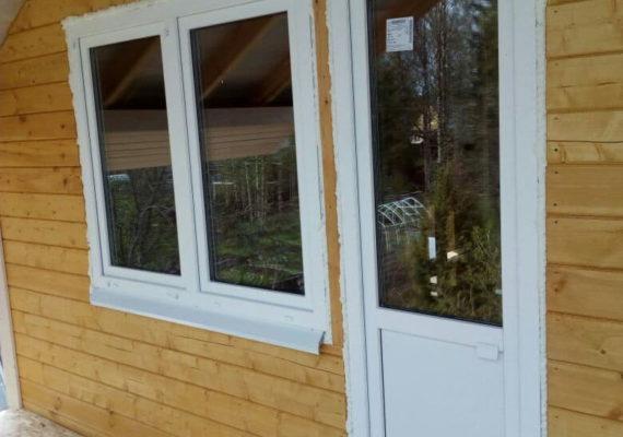 пластиковые двери и окна на даче вид 2