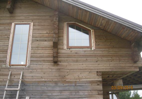 установка пвх окон в загородном доме