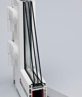пластиковые двери в разрезе