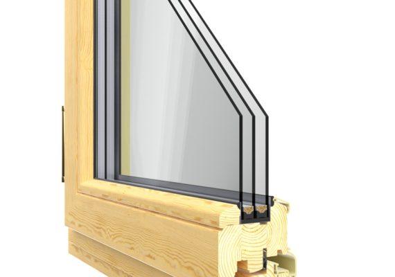 Окна из сосны в разрезе
