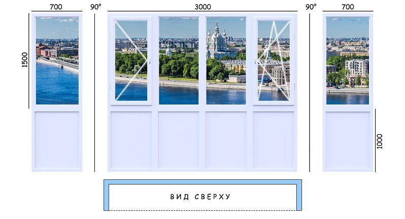 Стандартный балкон 2