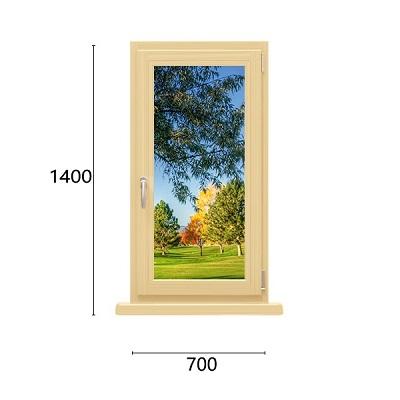 одностворчатое окно из дерева-алюминия