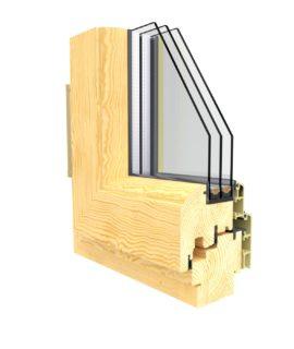 окна из дерево-алюминия