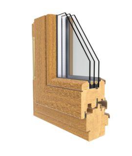 фото окна из дуба