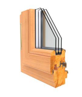 фото окна из лиственницы