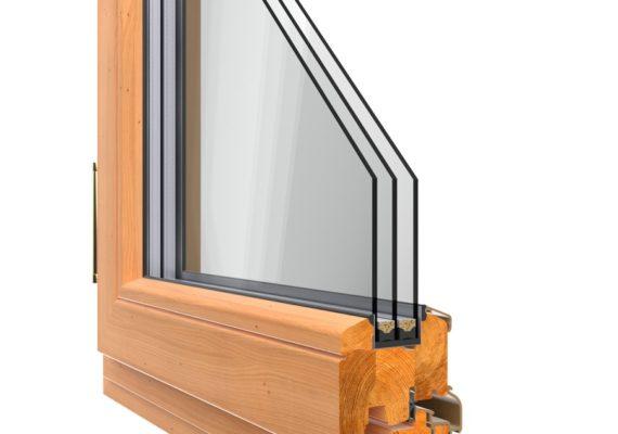 окна из лиственницы фото в разрезе