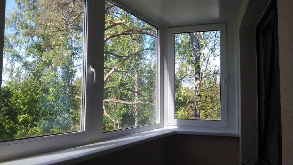 теплое остекление балкона фото