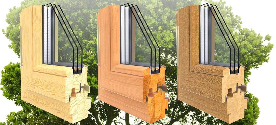 деревянные окна в разрезе