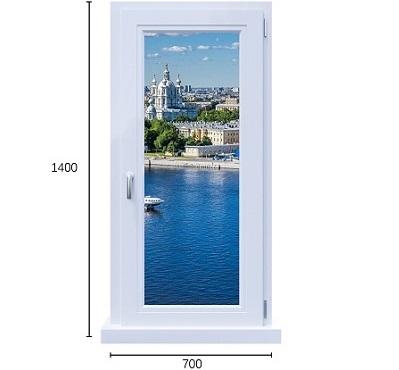 одностворчатое окно пвх