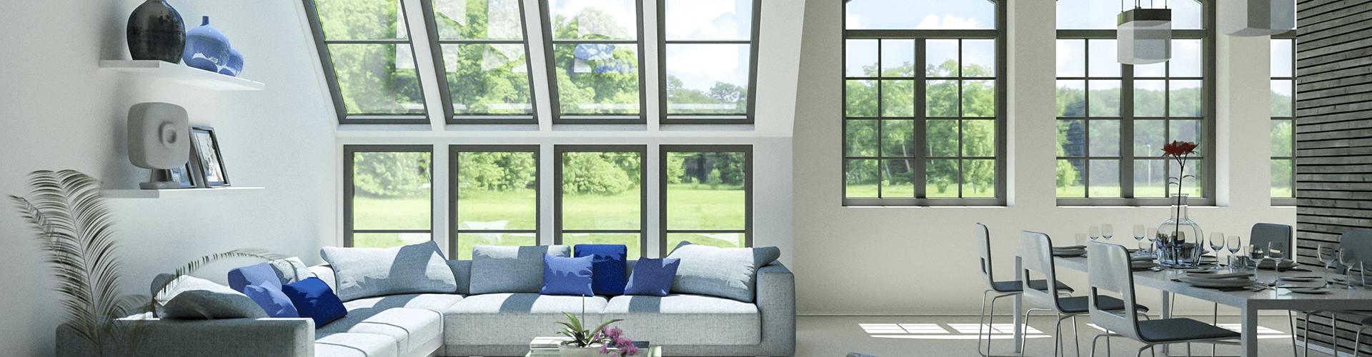 алюминиевые окна для дома фото