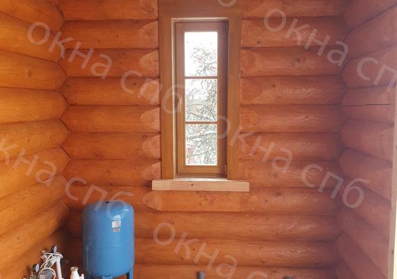 деревянное остекление из лиственницы в частном доме2