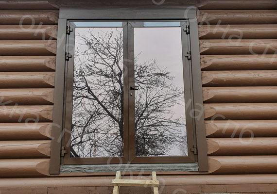 деревянное остекление из лиственницы в частном доме7