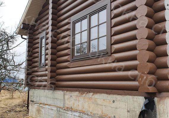 деревянное остекление из лиственницы в частном доме8