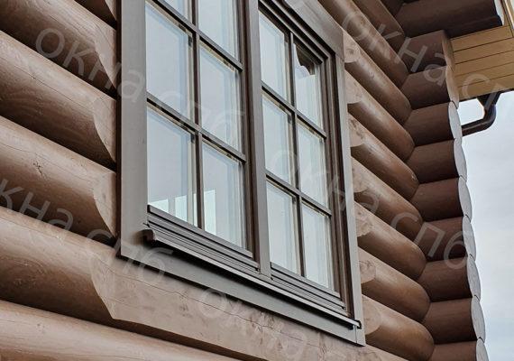 деревянное остекление из лиственницы в частном доме13