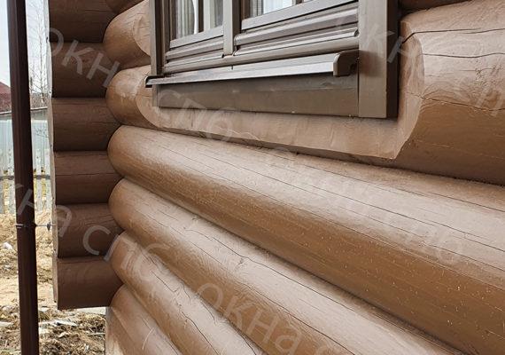 деревянное остекление из лиственницы в частном доме16