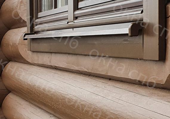 деревянное остекление из лиственницы в частном доме18