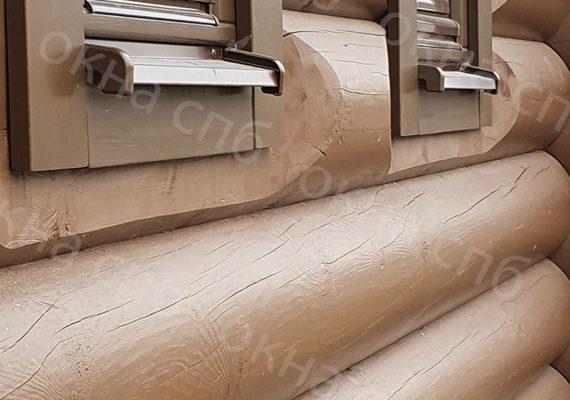 деревянное остекление из лиственницы в частном доме19
