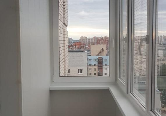остекление балкона на проспекте Руставелли 2