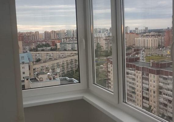 остекление балкона на проспекте Руставелли 3