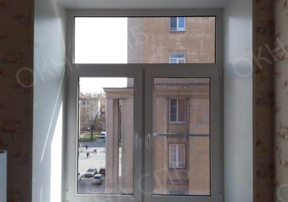 монтаж пластикового окна на проспекте славы