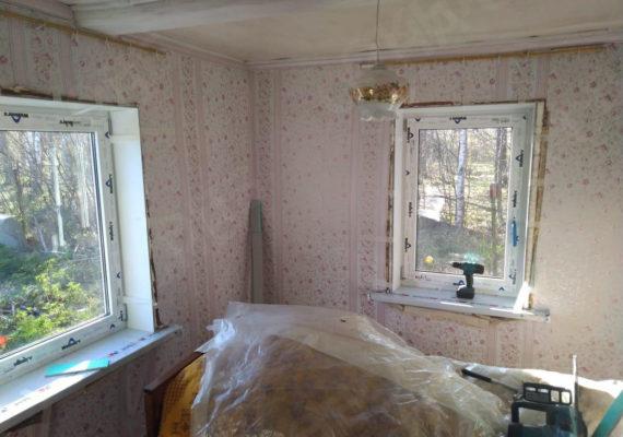 замена окон на пластиковыев частном доме в ленинградской области10