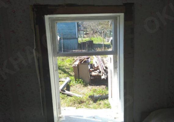 замена окон на пластиковыев частном доме в ленинградской области7