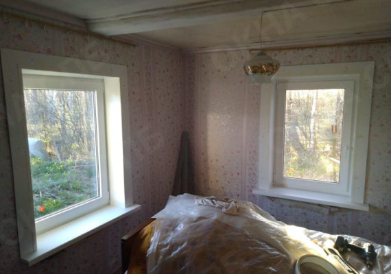 замена окон на пластиковыев частном доме в ленинградской области4