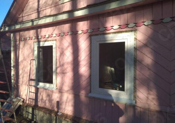 замена окон на пластиковыев частном доме в ленинградской области3