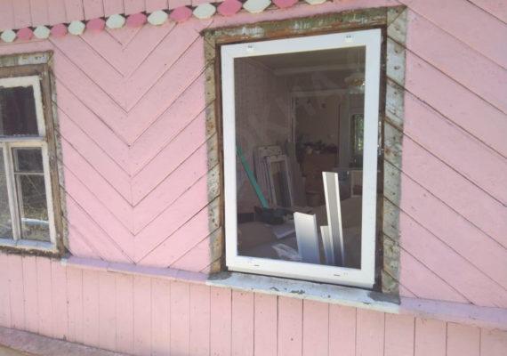 замена окон на пластиковыев частном доме в ленинградской области1