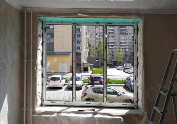 монтаж окна на ворошилова 31