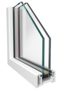 Однокамерый шумоизоляционный стеклопакет